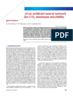 Development of an artificial neural network model to predict CO2 minimum miscibility pressure