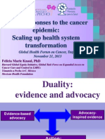 Global responses to the cancer epidemic