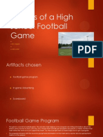 genres of a high school football game