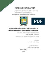 FORMULACIÓN DE INDICADORES PARA EL CONTROL DE GESTIÓN DE RRHH EN LA EMPRESA HOTEL CORREGIDOR