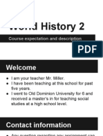 world history 2 course description and expectation