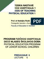 6 Program Fizickog Vaspitanja Dece Mladjeg Skolskog Doba
