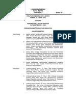 Peraturan Daerah Kota Metro Nomor 1 Tahun 2012 Tentang Rencana Tata Ruang Wilayah Kota Metro Tahun 2011 - 2031
