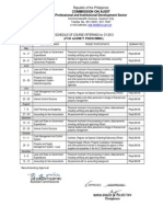 2013 PIDS Training Sched for Agency