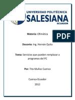 Ofimática-Mecánica G1-Tito Muñoz- Aplicaciones Web 2.0