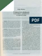 Cronicas de La Disidencia Contracultura y Globalizacion en America Latina