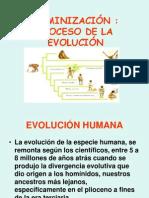 hominización , evolución