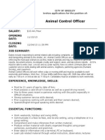 animal control officer info