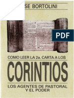 Bortolini, Jose - Como Leer La Carta 2 a Los Corintios