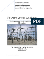 Electrical Power System Analysis 4. the Impedance Model and Network Calculations