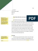 A Peer's Draft I Reviewed