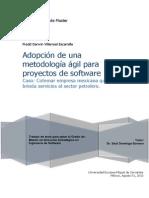 Adopción de una Metodología Agil  para Proyectos de Software