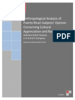 Anthropological Analysis of Puerto Rican Subjects
