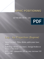 Radiographic positioning of leg