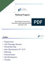 FlyAway Board of Airport Commissioners Presentation Dec. 2, 2013