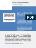 Evolucin de La Autonomia de La Kinesiologa en Atencion Primaria en Chile-parte I