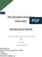 Planes Nacionales de Desarrollo-Marianela Armijo