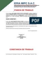 Certificado Ingenieria Mipc - Prof. Josue Vargas