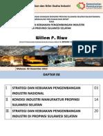 Strategi dan Kebijakan Pengembangan Industri  di Provinsi Sulawesi Selatan