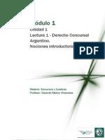 Lectura 1 M1- Unidad 1-Derecho Concursal Argentino