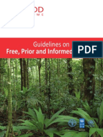UN- Reducing Emissions from Deforestation and Forest Degradation Free and Prior Informed Consent Guidelines
