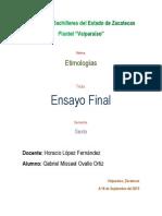 Ensayo Etimologias