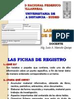 Diapositivas de La Clase Defichas de Registro