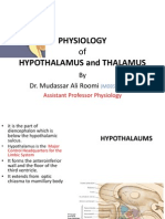 Lecture on the Physiology of Hypothalamus and Thalamus by Dr. Roomi