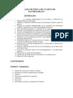 Programa de Fisica II de Cuarto de Bachillerato
