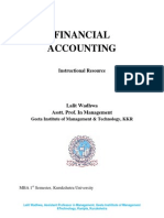 Financial Acccounting MBA KUK