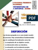 DIAPOSITIVAS DE LA CLASE TÉCNICAS GRUPALES