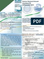 Seminar Nasional Airtanah (Leaflet)