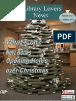 Library Lovers News Christmas 2013