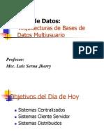Arquitectura de Bases de Datos Multiusuario
