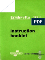 Instruction Booklet Manual Lambretta 125 S2