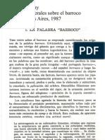 Severo Sarduy - La palabra Barroco
