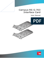 Campus-RS G.703 Interface Card