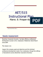instructional plan