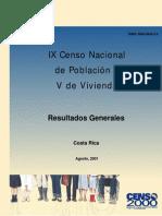 Resultados Generales de Censo 2000