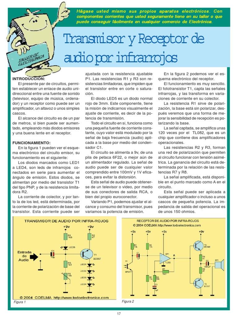 Circuito Emisor Receptor : Contador con emisor y receptor