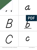 Dnealian Style Alphabet Letter Flashcards