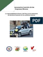 Policía mercenaria al servicio de las Empresas Mineras