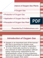 Application of Oxygen Gas Plants
