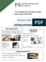 401_présentation des AES 2013-2014