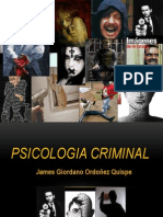 Diapositiva de Psicologia Criminal.