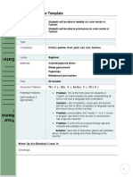 PPP Lesson Plan Template