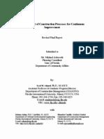 Measurement of Construction Processes for Continuous Improvement
