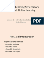 applying learning style theory