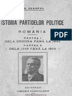 Istoria Partidelor Politice in Romania (a.D.xenopol 1920)