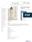 Scoop Neck Strapless Wedding Dress
